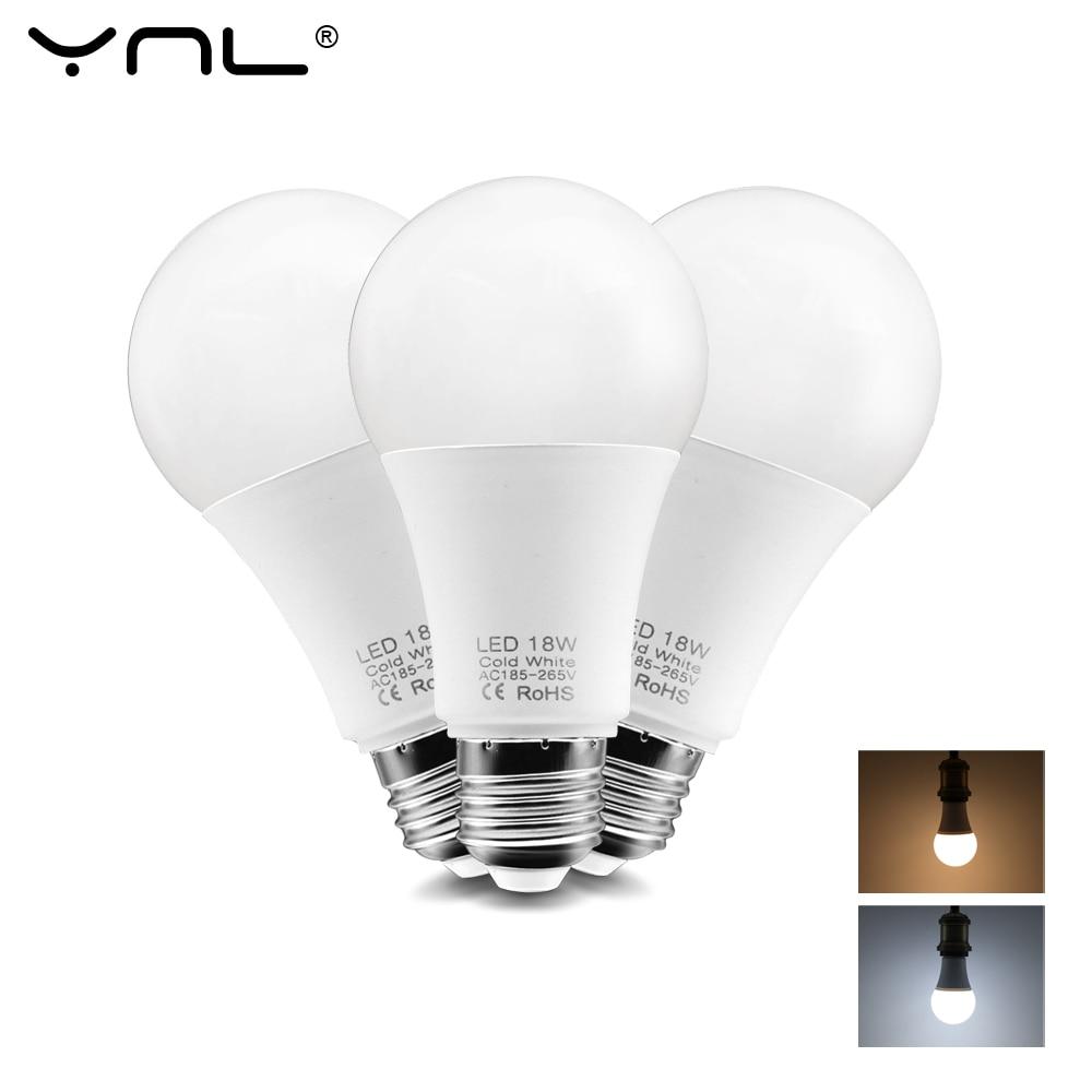 LED E27 LED Bulb Lamp 220V 240V 3W 6W 9W 12W 15W 18W Ampoule Lampada LED Light Bulb Cold/Warm White Bombilla Spotlight LED Lamp