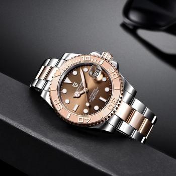 PAGANI DESIGN automatyczny zegarek męski luksusowe szafirowe szkło mechaniczny zegarek wodoodporny zegarek ze stali nierdzewnej Mekaniska klocor tanie i dobre opinie 10Bar CN (pochodzenie) Składane bezpieczne zapięcie Moda casual Samoczynny naciąg 22cm STAINLESS STEEL Odporna na wstrząsy