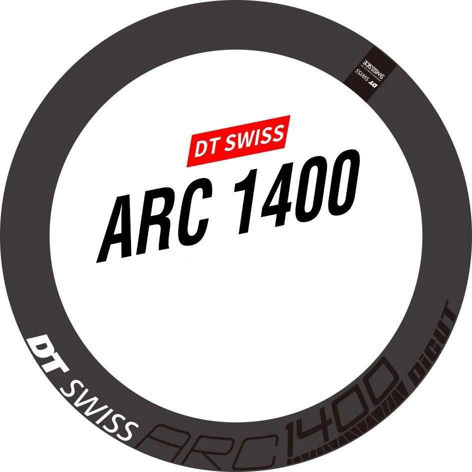 Dois ARCO Da Roda Adesivo para DT 1400 Bicicleta de Estrada De Carbono Ciclismo Bicicleta Decalque, só Freio A Disco