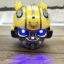 Bumblebee capacete bluetooth sem fio mini alto-falante estéreo portátil alto falantes para rádio fm usb mp3 tf inteligente subwoofer