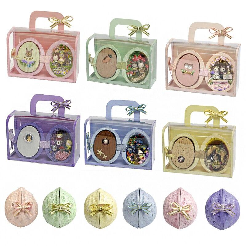 DIY Dollhouse Furniture Miniature Wooden Miniaturas Doll House Box Theatr Toys For Children Birthday Gifts Casa Seed World R3