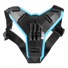 フルフェイスヘルメットオートバイあごマウント耐衝撃ホルダーサポート移動プロヒーロー 5/6/7 アクションスポーツカメラ