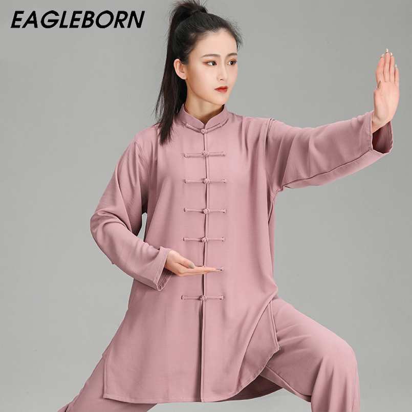 New Women White Taiji Sets Clothing Tang Suit Kung Fu Uniform Martial Arts Tai Chi Suits Garment Martial Arts Chinoiserie Show