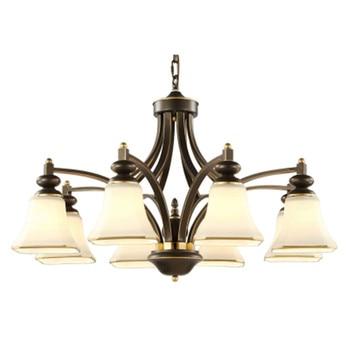 Wysokiej jakości klasyczny żyrandol lampa do salonu E27 gniazdo dobrze pakiet nabłyszczania para quarto w Wiszące lampki od Lampy i oświetlenie na