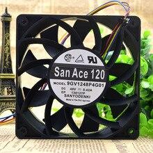 В виде бабочек, новинка, 12 см 12025 9GV1248P4G01 48V 0.42A 4 провода защиты электродвигателя Вентилятор охлаждения