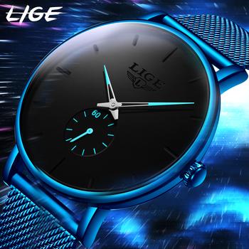 Zegarek męski 2021 LIGE sprzedaż Link $14 99 moda biznes mężczyźni zegarki Top marka luksusowy wodoodporny Casual prosty kwarcowy zegarek tanie i dobre opinie 23 5cm Moda casual QUARTZ 3Bar Klamra z haczykiem CN (pochodzenie) STAINLESS STEEL 12mm Hardlex Kwarcowe zegarki Papier