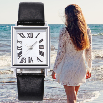 Roman scale square ladies fashion simple watch casual women romantic watch leather designer ladies clock dress watch for women seiko solar leather solar leather digital scale simple business casual men s watch sup863p1 sup872p1