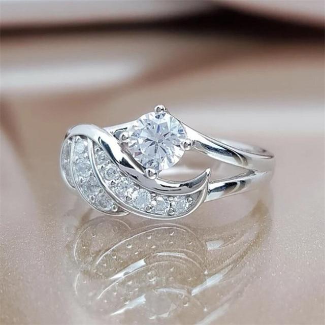 модные популярные изысканные «крылья ангела» женское кольцо фотография