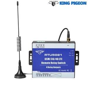 RTU5021 3G 4G Interruptor do Relé Sem Fio GSM SMS Controle Remoto 4 Saídas de Relé SMS APP Temporizador configuração Web ioT Porta de Entrada do Sistema de Alarme