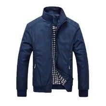 2020 Men's Winter Spring Thin Jackets Windbreaker Outwear Solid Casual Zipper Co