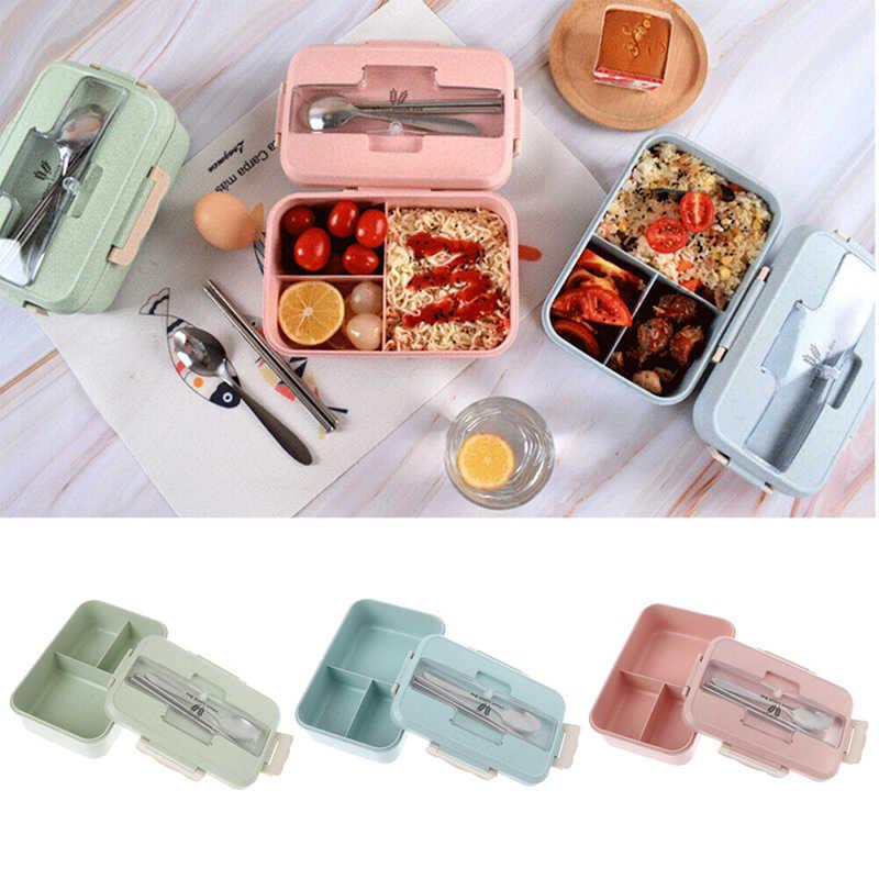Caja Coreana de plástico sellada de trigo para comida, fiambrera, fiambrera para niños