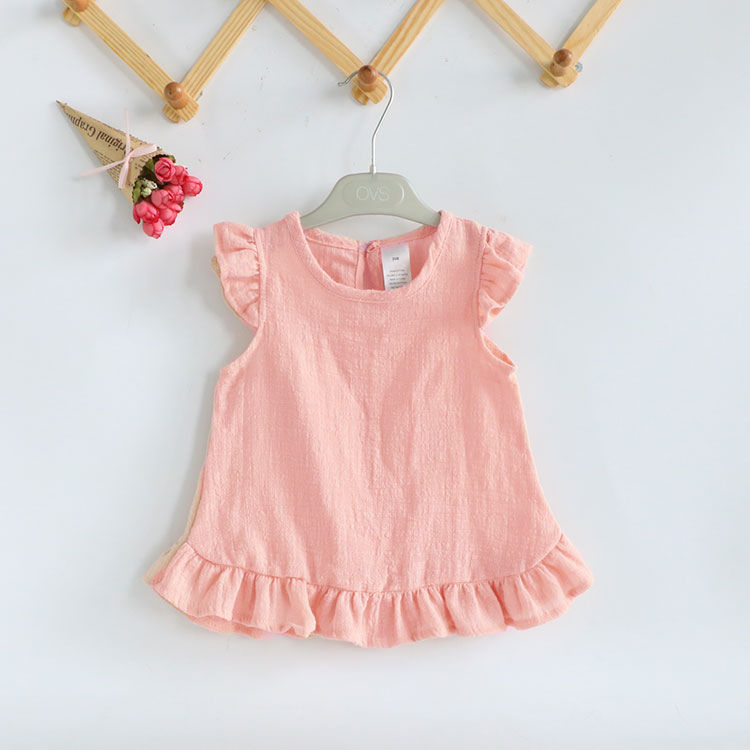 VIDMID 2-6Years Toddler Kids Baby Girls Sleeveless T Shirts Vest Solid Pure Color Casual Baby Summer Tops Clothes P197 3