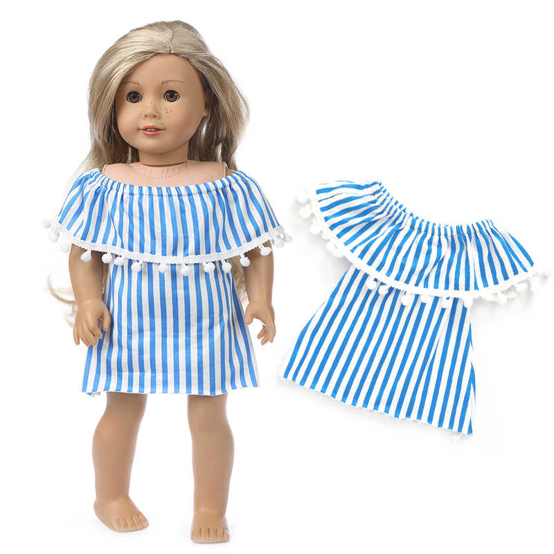 White Rainbow Striped Sneakers Fits 18 inch American Girl Dolls