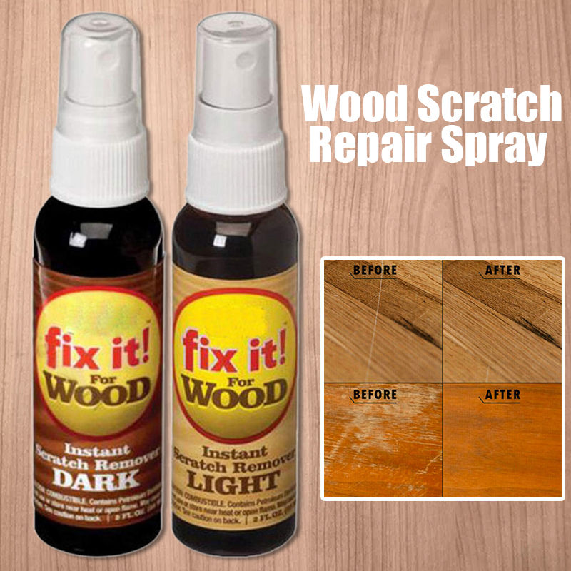 2pcs Practical Instant Wood Scratch Remover For Wooden Floor Furniture Polishing Scuffs Holes Repair Fix Paint Liquid Spray