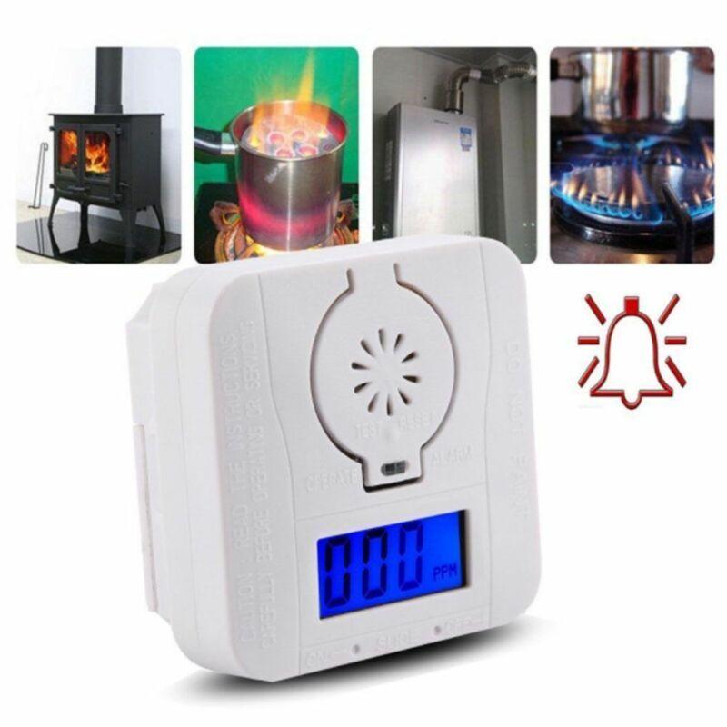Co detector de sensor de gás monóxido de carbono e detectores de alarme de fumaça combinação envenenamento gás display lcd alta sensível