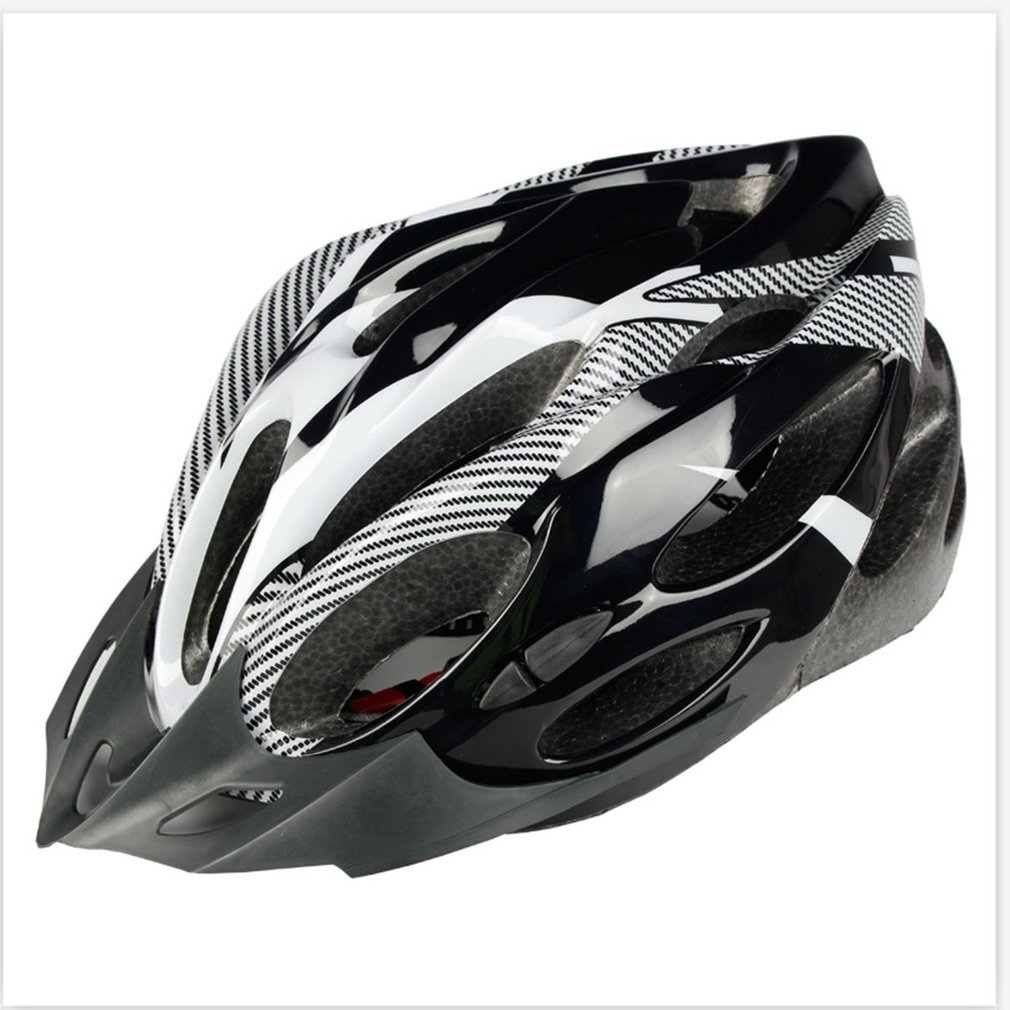 Mountain Bike Cycling Helmet Hollow Breathable Mountain Helmet Carbon Fiber Safety Head Cap Outdoor Cycling Helmet image