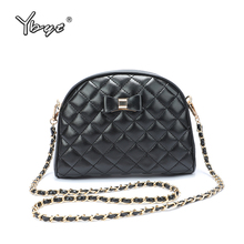 YBYT new fashion messenger bags for women 2019 diamond lattice chain shoulder crossbody luxury handbags designer