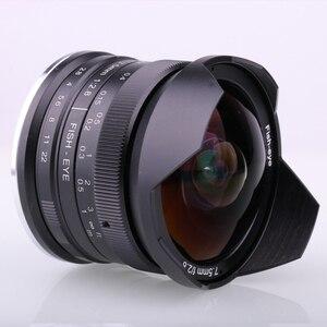 Image 5 - RISESPRAY lente de cámara de 7,5mm f2.8, lente de ojo de pez de 180 APS C, lente fija Manual para Fuji montaje FX, gran oferta, envío gratis
