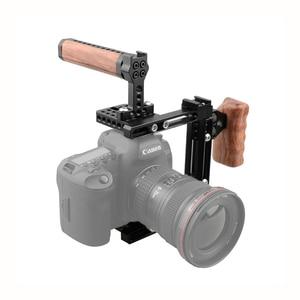 Image 2 - Kayulin Dual use Einstellbare Dslr Kamera Käfig Kit mit Holz griff grip für Universal Dslr kameras