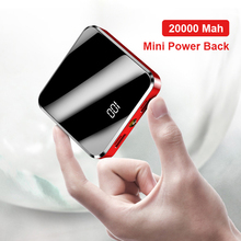 20000mAh Mini Power Bank For Xiaomi Poverbank 10000 mah Portable Charger LED Mirror Universal PowerB