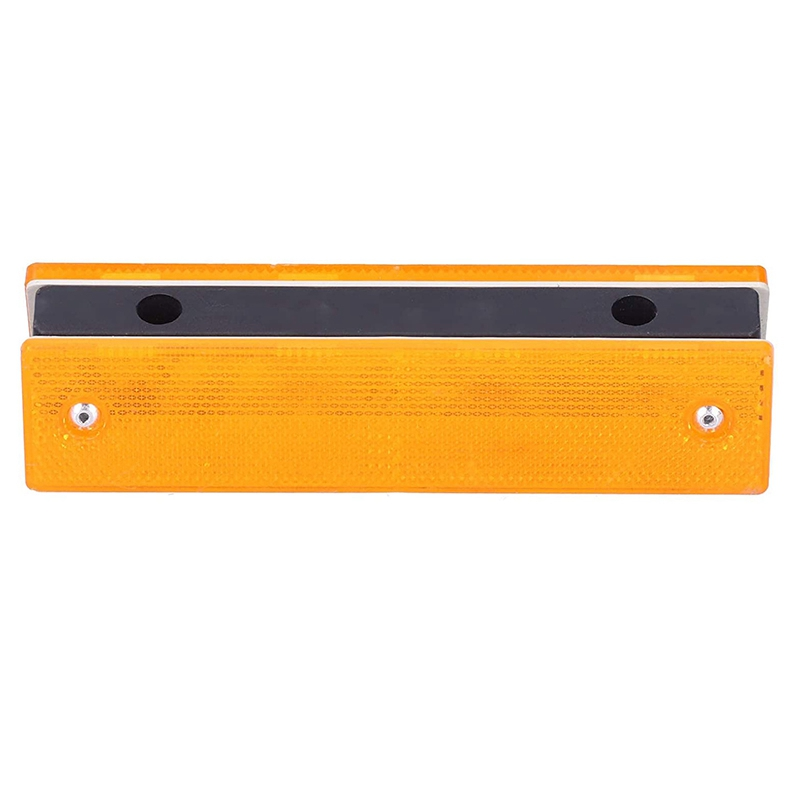 Top Road Markings Rectangle Reflective Sign Road Plug Marking for Road Warning Systems Yellow