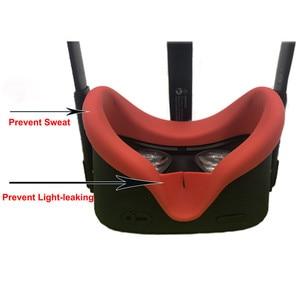 Image 3 - Almohadilla de silicona para cara de ojo, antisudor, para Oculus Quest VR, controlador de gafas, correa para nudillos, bloqueo de luz, almohadilla facial