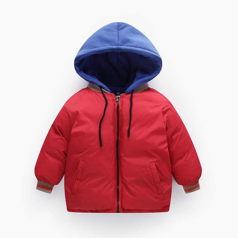 2019 Yeni Bebek Kış Tulum çocuk Saf Renk Pamuk Ceket Erkek ve Kız Için çocuk ceketi 5 Renkler Toddler Rüzgarlık