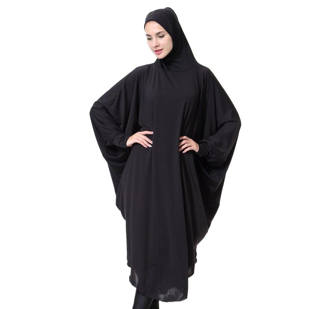 Casual Muslim Abaya Bat Sleeve Maxi Dress Cardigan Loose Long Robe Gowns Ramadan Turkey Islamic Prayer Clothing Hijab Robe 10.31