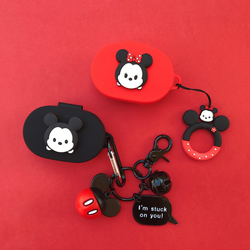 Cartoon Key Ring Cute Cover For Airdots Case For Xiaomi Redmi Airdots Youth Soft Silicone Protective Shell Charging Box