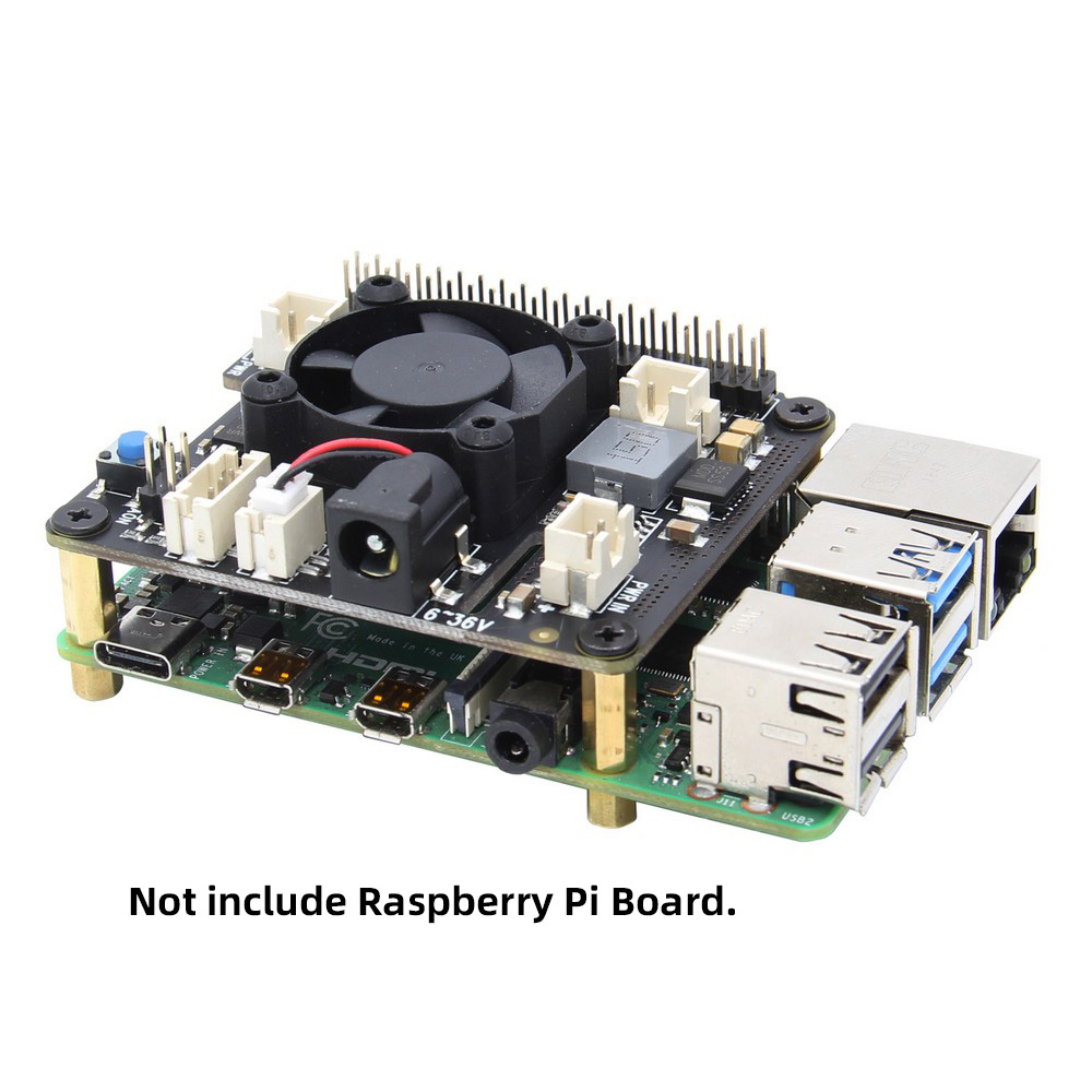 RasPi X710 Safe Shutdown,Power Management Expansion Board With Wide Voltage Input(6V~36V) For Raspberry Pi 4 Model B / 3B+ / 3B