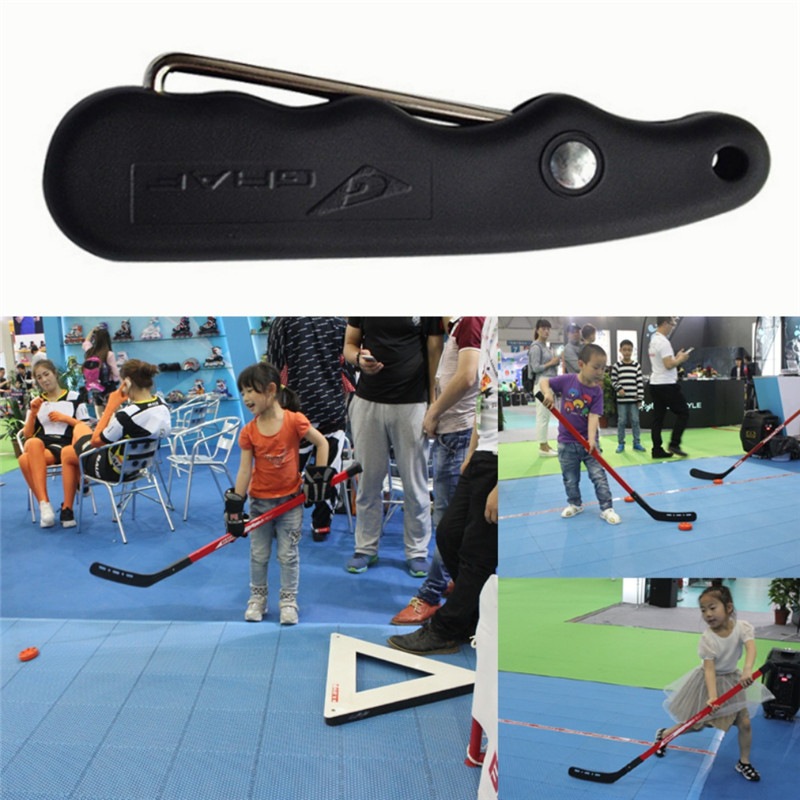 Tightener Skate Tie Hold Handle PP Folding Ergonomic Design Suit For Figure Skates Hockey Skating Skate Tool Useful