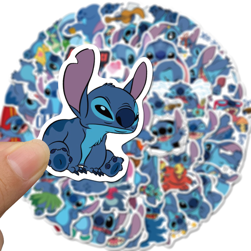 50Pcs/Set Classics Lilo Stitch Cute Cartoon Stickers Scrapbooking Stickers For Luggage Laptop Notebook Car Motorcycle Toy Phone(China)