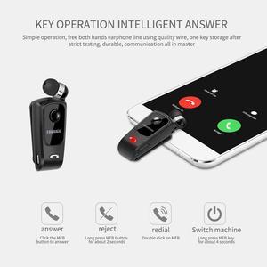 Image 2 - Fineblue F920 Draadloze Bluetooth Hals Clip Telescopische Business Oortelefoon Trilalarm Dragen Stereo Sport Headset Mic