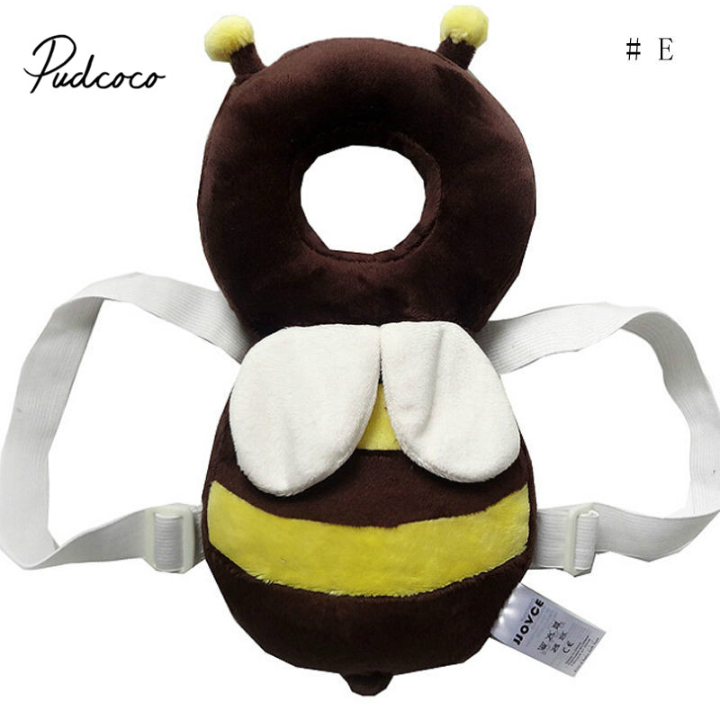 Pudcoco Cute Baby Infant Toddler Newborn Head Back Protector Safety Pad Harness Headgear Cartoon Baby Head Protection Pad