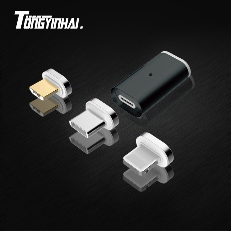 Magnetic Usb Connector Adapter Coverter Charging Mirco USB Connector Charger Adapter For Android Micro USB For Iphone Type C
