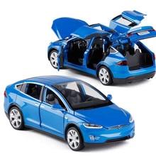 1:32 Mẫu Tesla Model X Hợp Kim Hình Xe Ô Tô Với Lại Kéo Về Điện Tử Đồ Chơi Mô Phỏng Đèn Và Nhạc Xe Ô Tô Mô Hình Đồ Chơi dành Cho Trẻ Em Quà Tặng