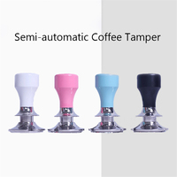 Aluminium Alloy Coffee Tamper Calibrated Powder Hammer Pressure 58mm Stainless Steel Flat Base Espresso Coffeeware For Barista