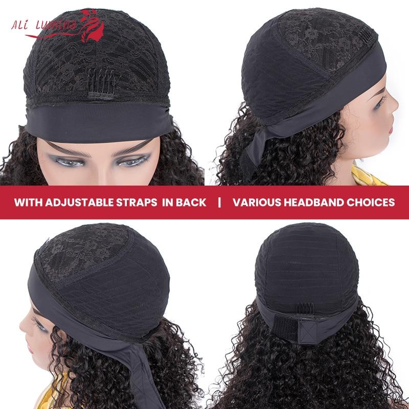 Body Wave Headband Wig   Hair 150 Density  Wigs  Fashion Style Glueless Scarf Wig 5