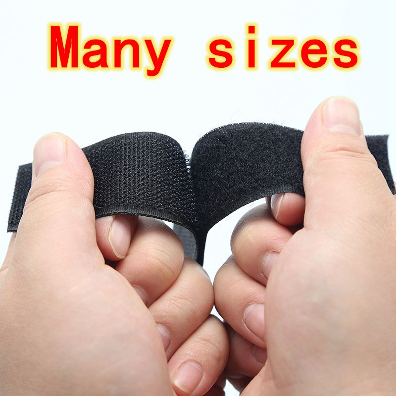 20mm-100mm Fastener Tape Velcros Hook and Loop Tape Sewing Accessories velcros patch Black White, 5 Yard/lot