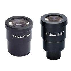 Microscope stéréo oculaires WF10X WF20X lentille grand Angle partie monoculaire livraison gratuite