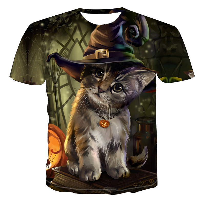 2020 Men's New Personalized T-Shirt Animal Print T-Shirt 3D Men's T-Shirt Novelty Animal Tops T-Shirt Men's Short Sleeve