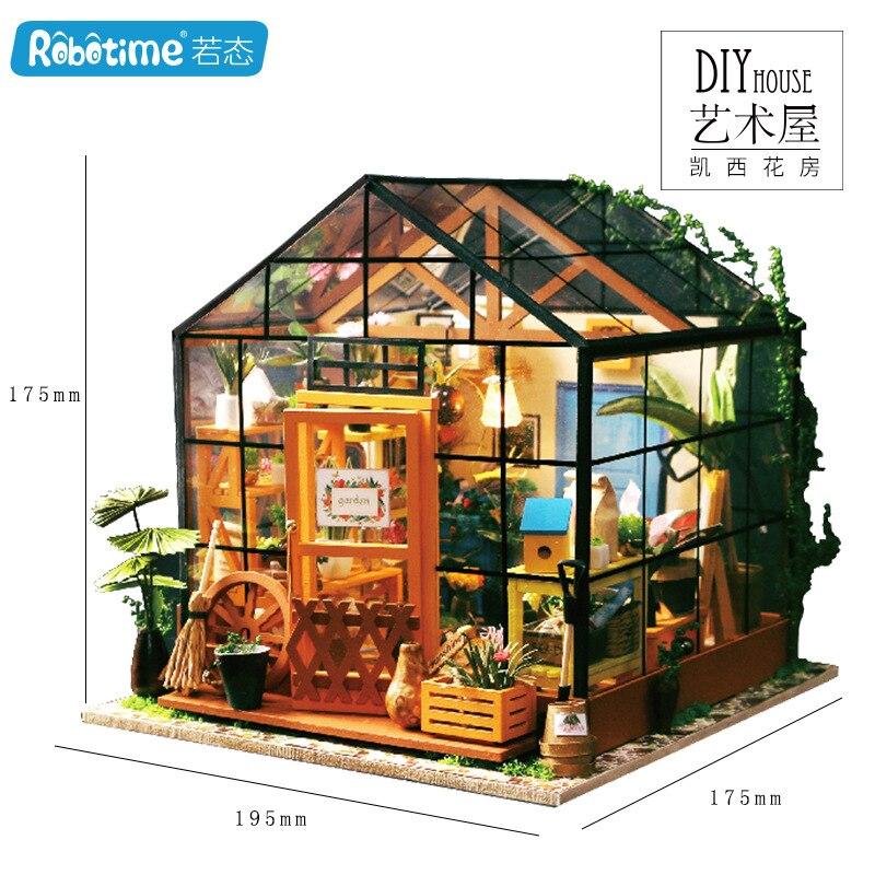 Art DIY Hut Creative Entirely Handmade Assembled Tailor Shops Micro Landscape Model Crafts Gift