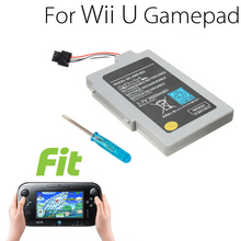 3.7V 3600mAh Rechargeable Battery for Wii-U Controller Gamepad Backup Battery Pack for Wii-U Joystick Battery with Screwdriver 3 7v 1500mah 3600mah rechargeable battery for nintendo u wii wiiu gamepad controller joystick replacement repair part free tool