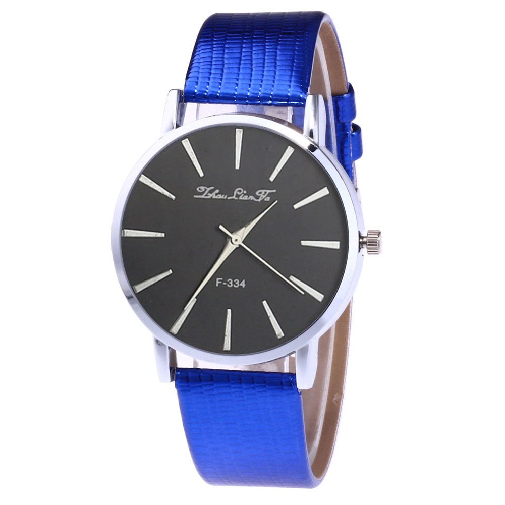Elegant Men Business Watch Round Dial Quartz Watch With Faux Leather Band Couple Watches  LL@17