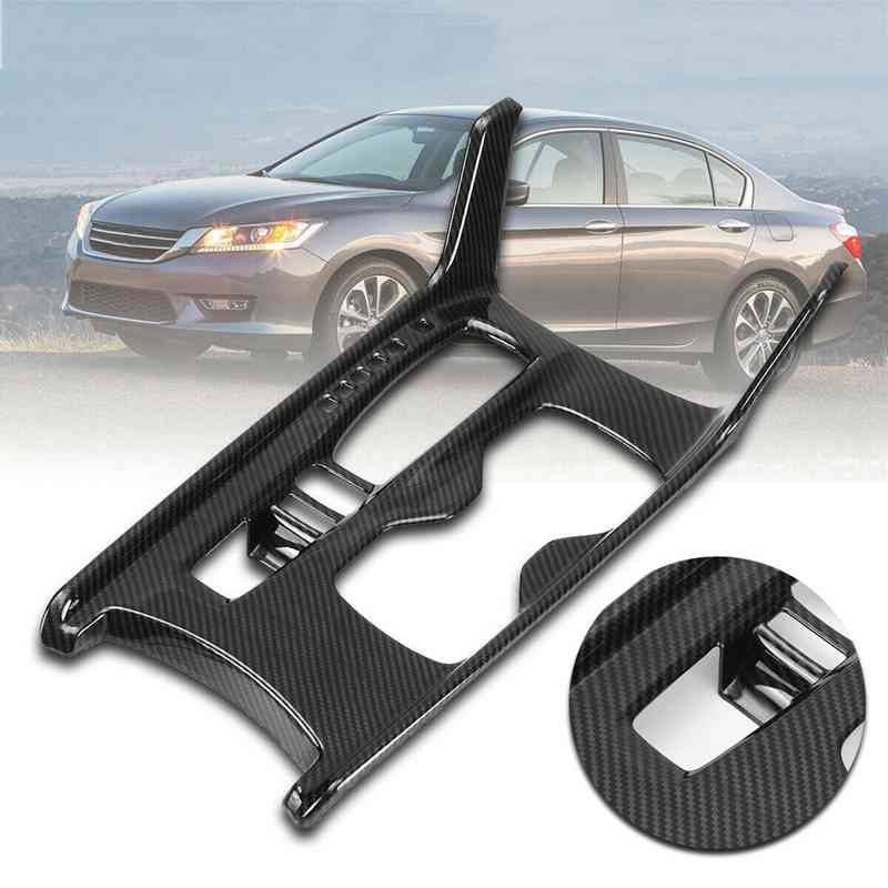 Carbon Fiber Style Gear Shift Box Panel Holder Cover Trim For Honda Accord 2018