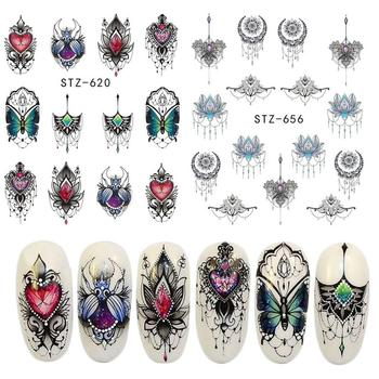Nail Art Sticker Butterfly Chandelier Petal Nail Art Sticker Water Transfer Decal Manicure Nail Art Decal Nails Accessories image