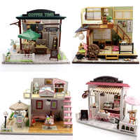 DIY Mini Doll House 3D LED Wooden Miniatura House With Furniture Kit Light Children Birthday Gifts Love Gifts No Dust Cover