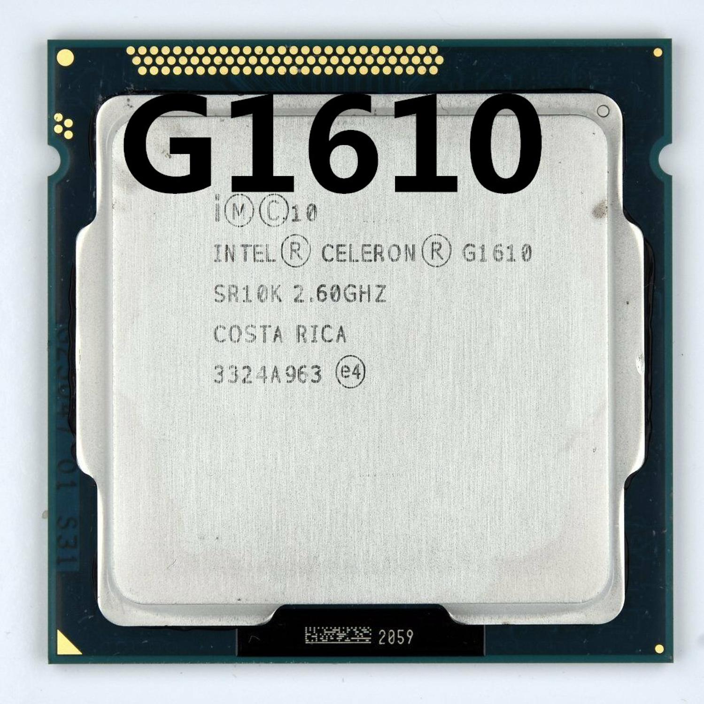 Intel Celeron Processor G1610 (2M Cache, 2.60 GHz) Dual-Core CPU LGA 1155 100% Working Properly PC Computer Desktop CPU