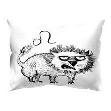 Чехол для подушки с рисунком животных и чернильным принтом, полиэстеровый чехол для дивана и автомобиля, аксессуары для дома, декор 30x50 см, Прямая поставка#40