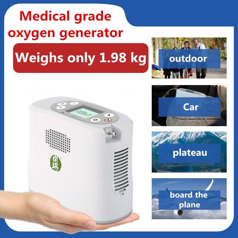 Портативный Медицинский кислородный концентратор, генератор мини 5L кислородный генератор машина бытовой пожилых на открытом воздухе тури...